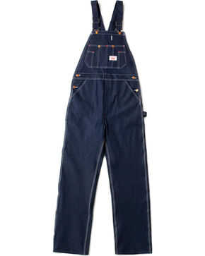 Round House Men's Blue Classic Fly Bib Overalls - Big , Blue, hi-res
