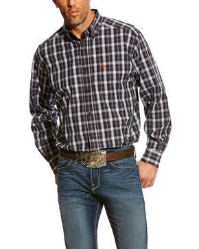 Ariat Men's Blue Calvelli Classic Fit Shirt - Big, Multi, hi-res