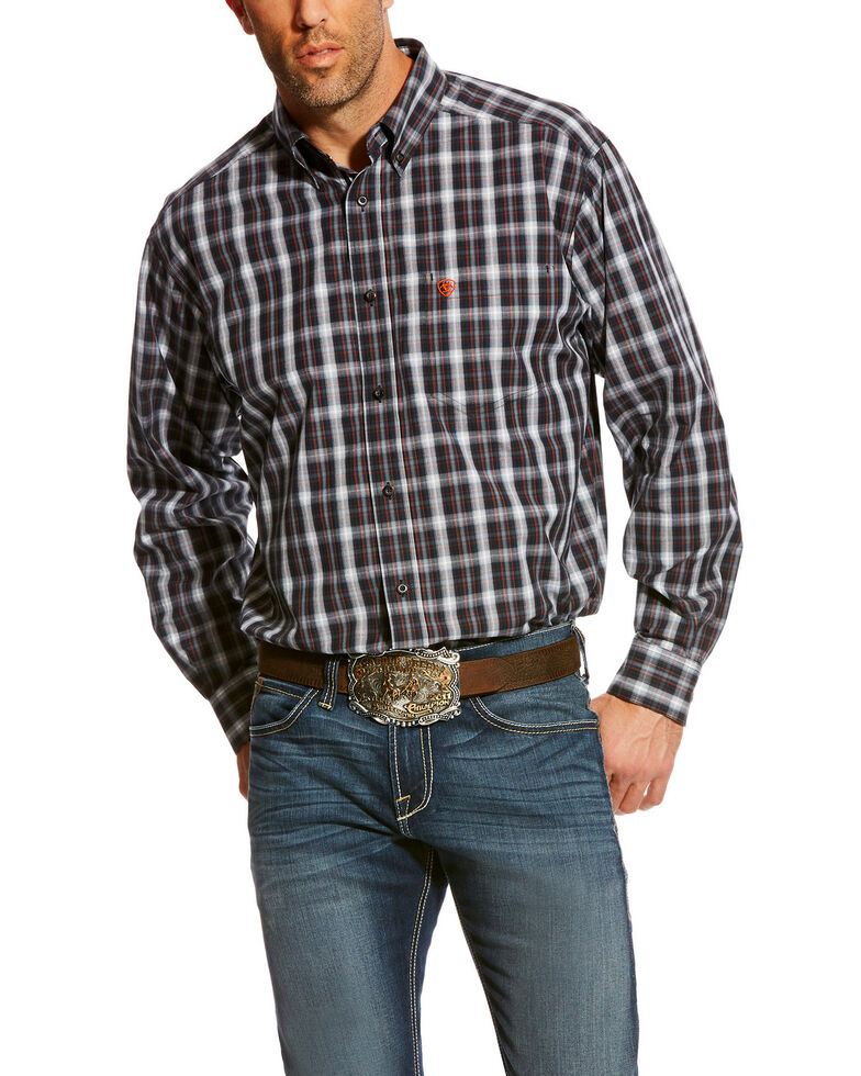 Ariat Men's Blue Calvelli Classic Fit Shirt - Big, Multi, hi-res