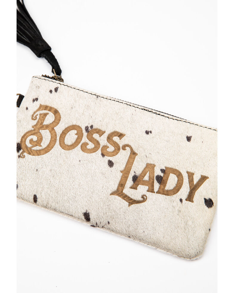 Idyllwind Women's Boss Lady Hair On Wristlet, White, hi-res