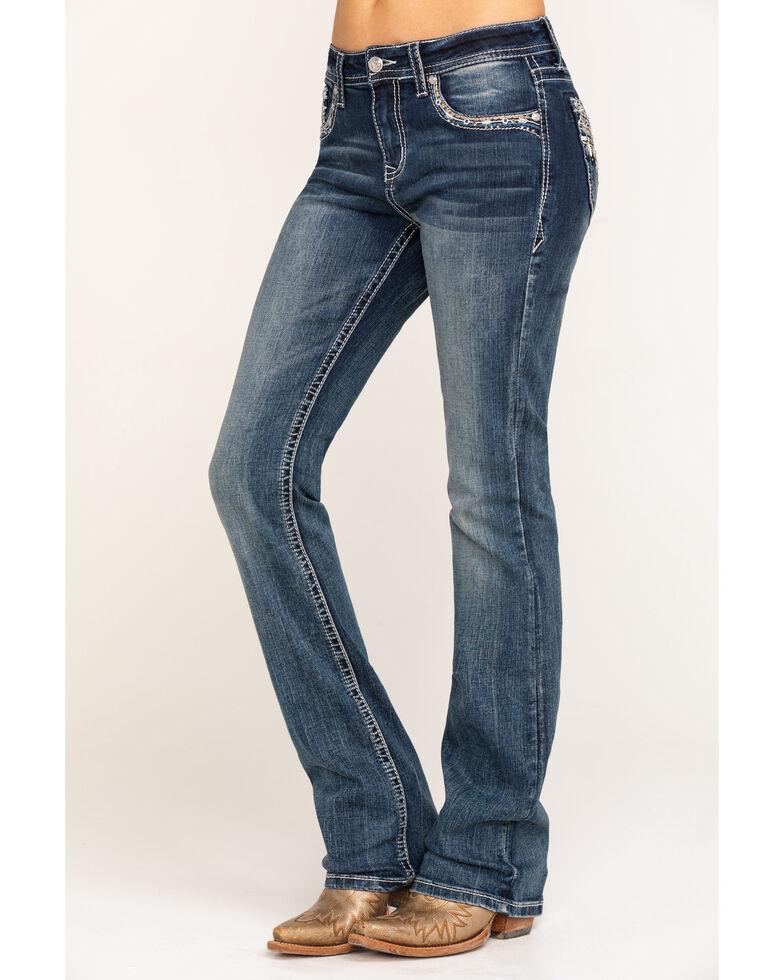"Grace in LA Women's Classic Medium 34"" Bootcut Jeans, Blue, hi-res"