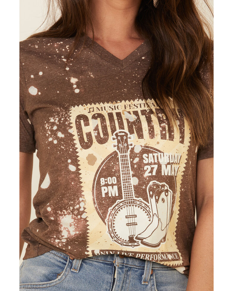 Bohemian Cowgirl Women's Country Festival Graphic Tee , Brown, hi-res