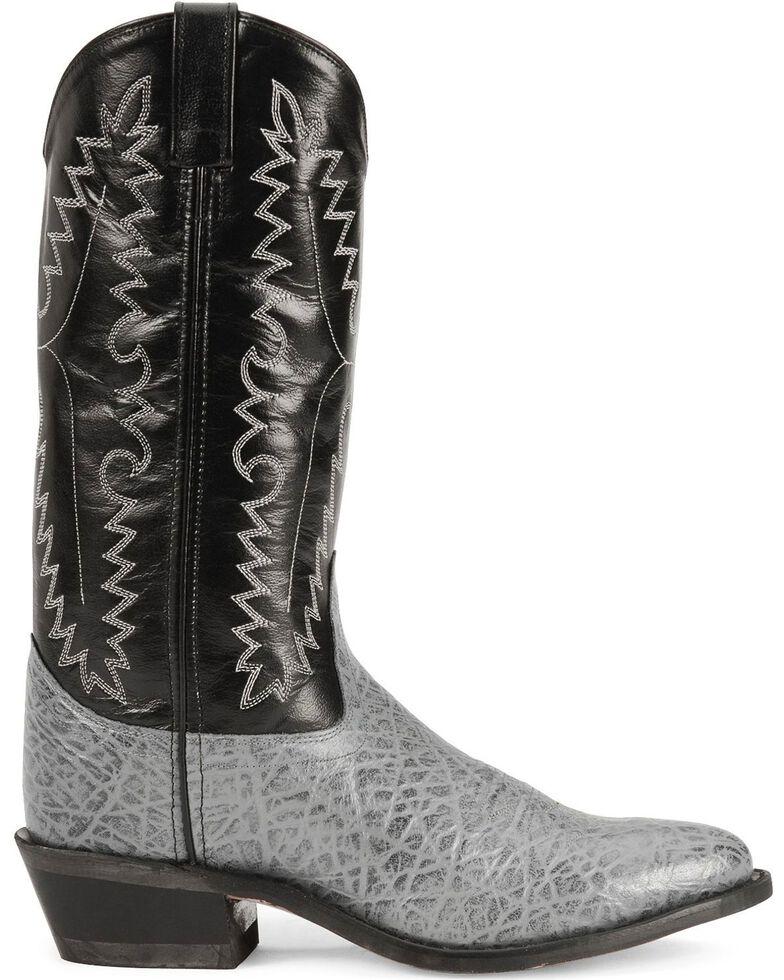Old West Elephant Print Cowboy Boots - Medium Toe, Grey, hi-res