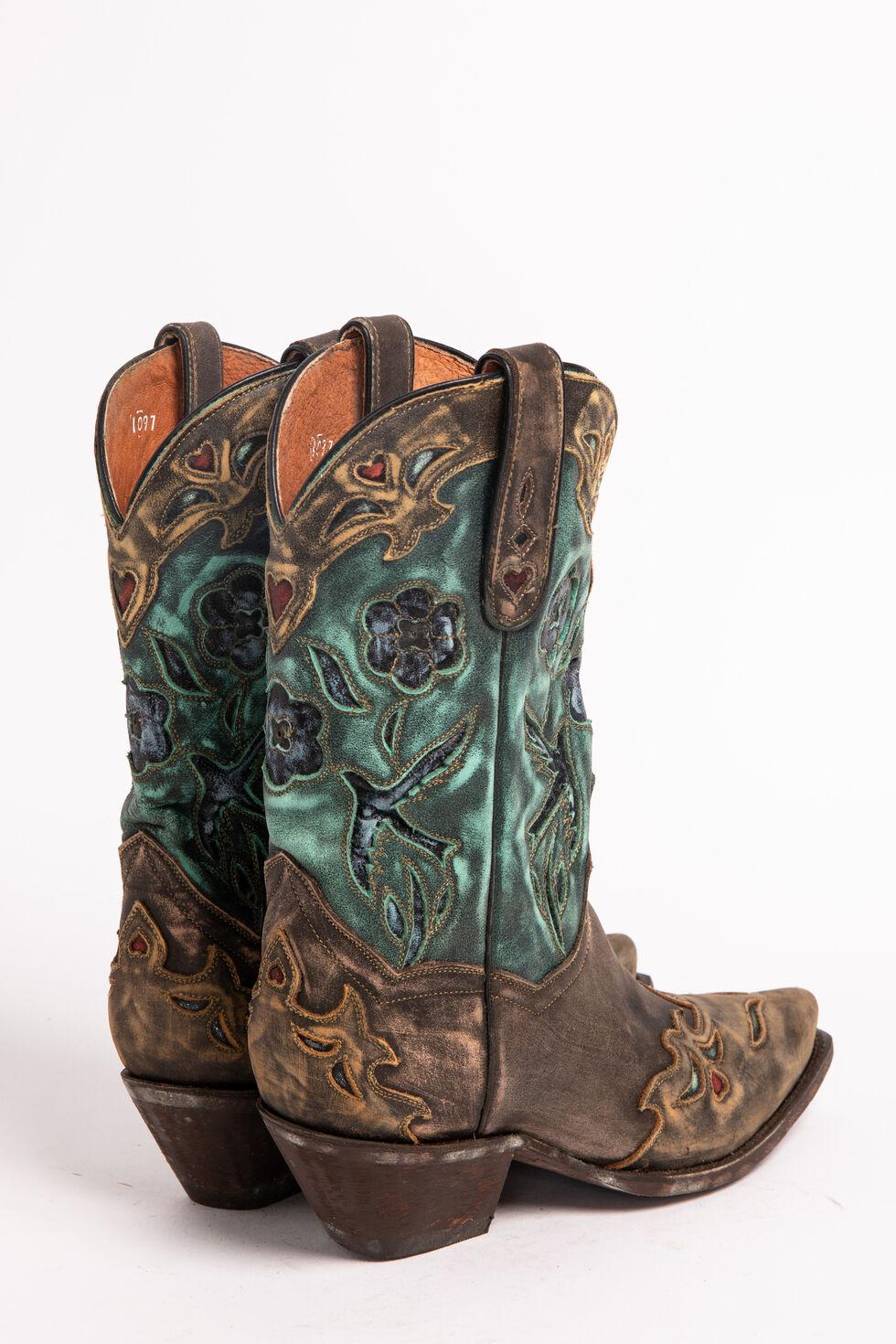 Dan Post Blue Bird Wingtip Cowgirl Boots - Snip Toe, Copper, hi-res