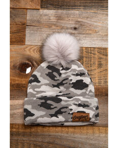 Idyllwind Women's Cozytown Camo Pom Beanie, Camouflage, hi-res