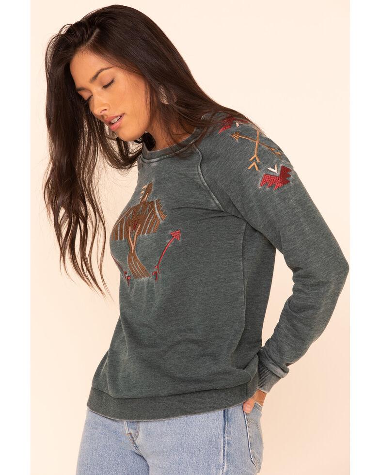 Ariat Women's Teal Wings Sweatshirt, Teal, hi-res