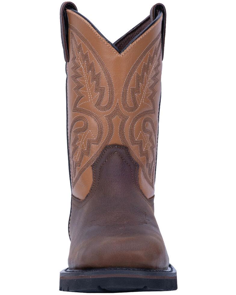 Laredo Men's Dax Western Work Boots - Steel Toe, Brown, hi-res