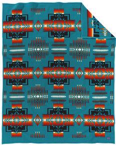 Pendleton Chief Joseph Blanket, Turquoise, hi-res
