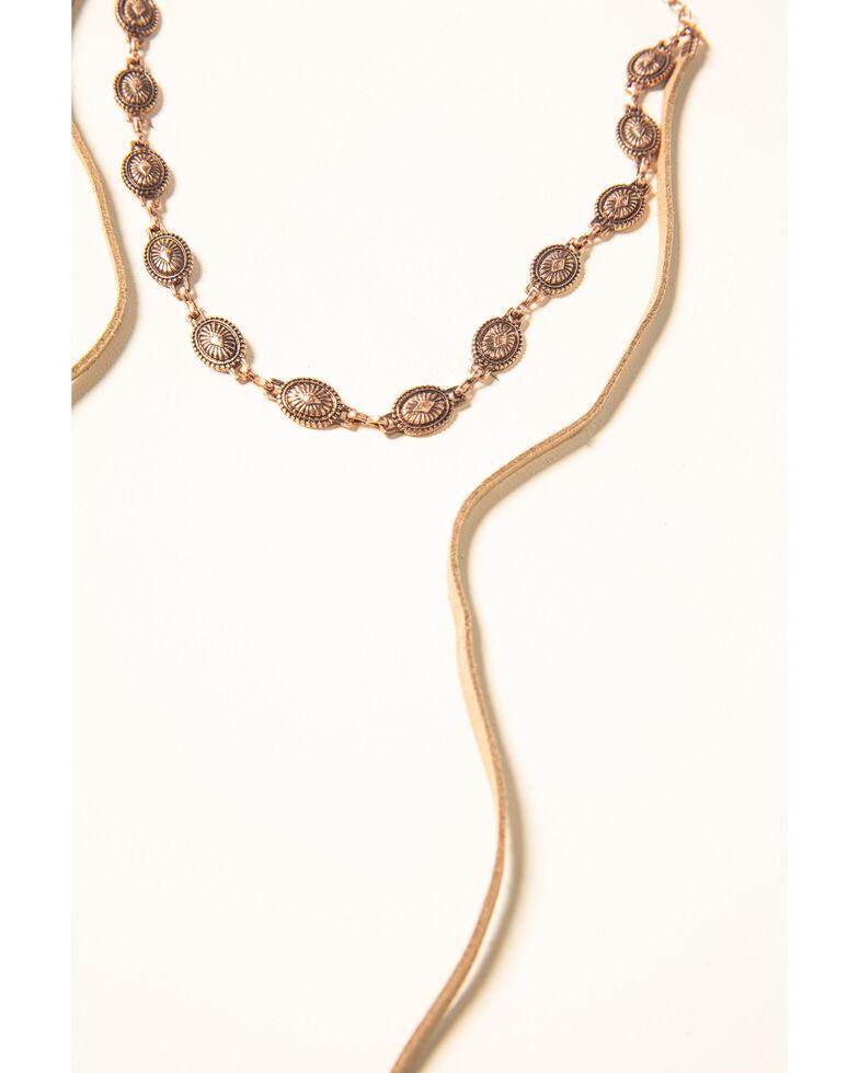 Shyanne Women's Desert Dreams Multi Layer Feather Jewelry Set, Rust Copper, hi-res