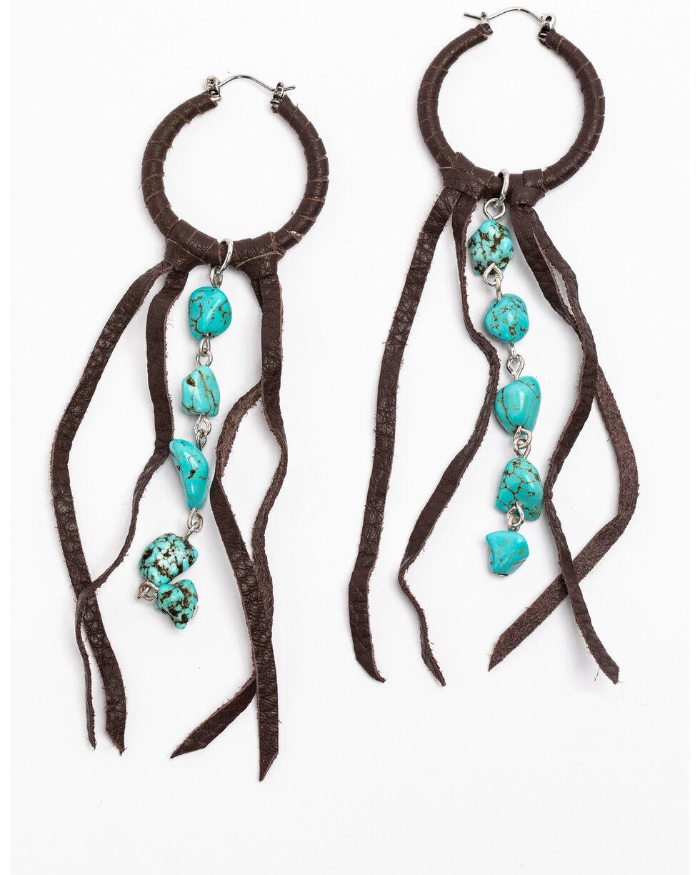 Idyllwind Women's Boho Fringe Earrings, Brown, hi-res