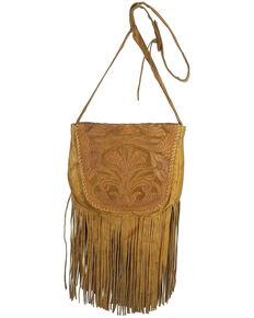 Kobler Leather Women's Tooled Crossbody Bag, Tan, hi-res