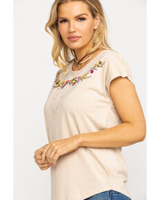 Ariat Women's Tan Tahos Short Sleeve Top, Beige/khaki, hi-res