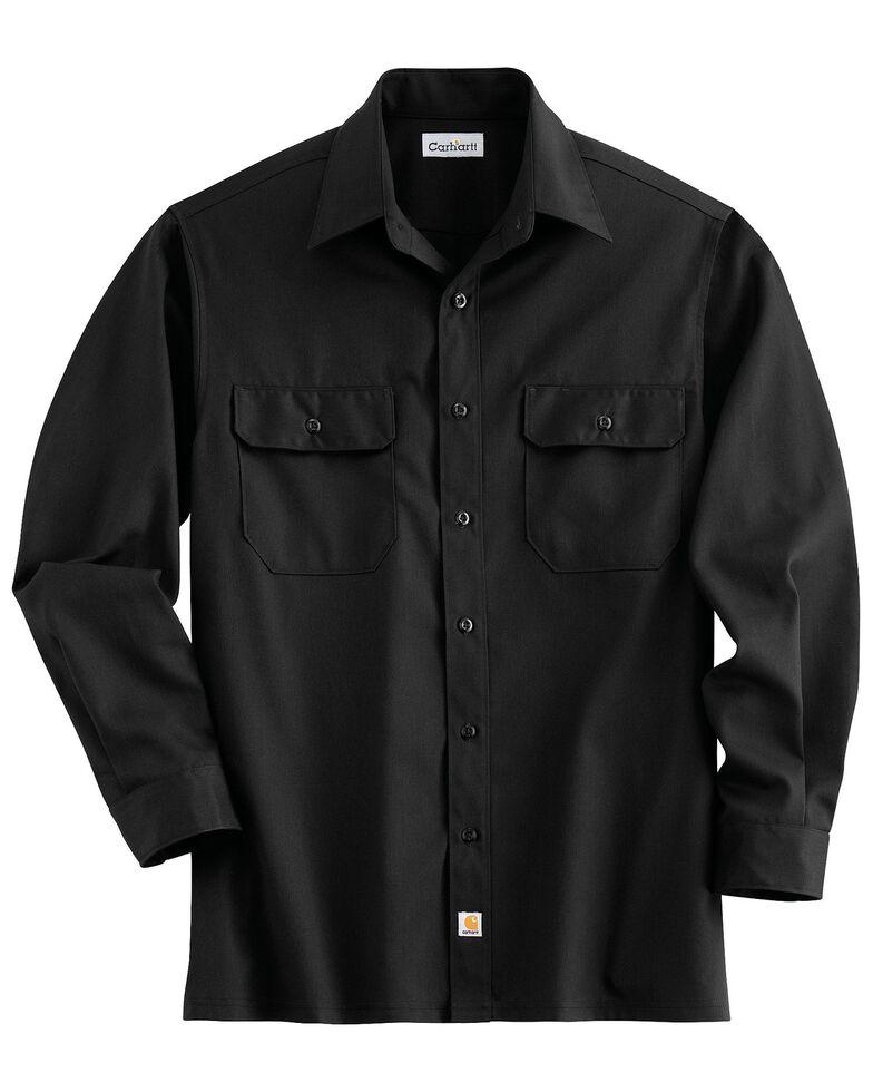 Carhartt Twill Work Shirt, Black, hi-res