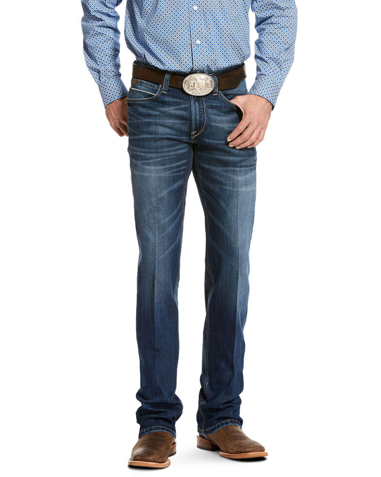 Ariat Men's Ford Chandler Stretch Bootcut Jeans, Blue, hi-res