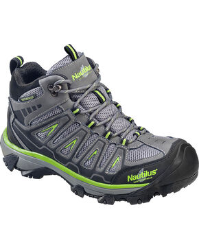 Nautilus Men's Lightweight Waterproof HIker Work Boots - Steel Toe , Grey, hi-res