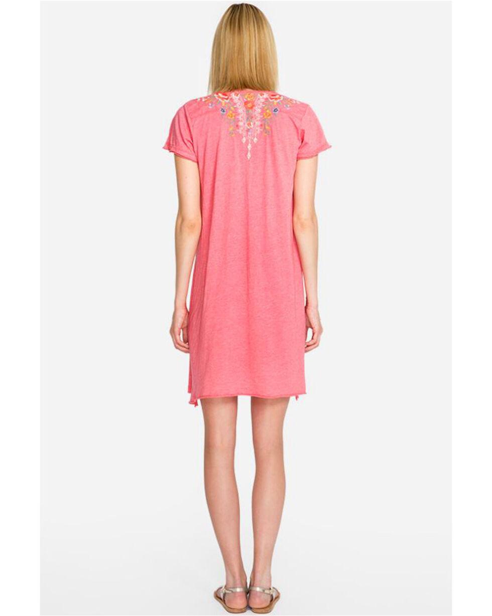 Johnny Was Women's Hazelton Draped Tunic Dress , Coral, hi-res