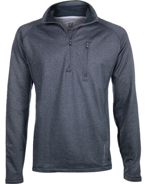 Noble Outfitters Men's Charcoal Performance Quarter Zip Pullover, Charcoal, hi-res