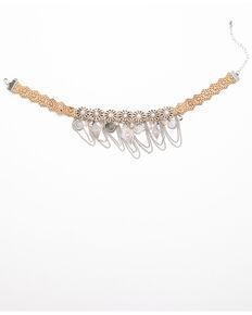 Shyanne Women's Moonlit Laser Cut Swag Choker Necklace , Silver, hi-res