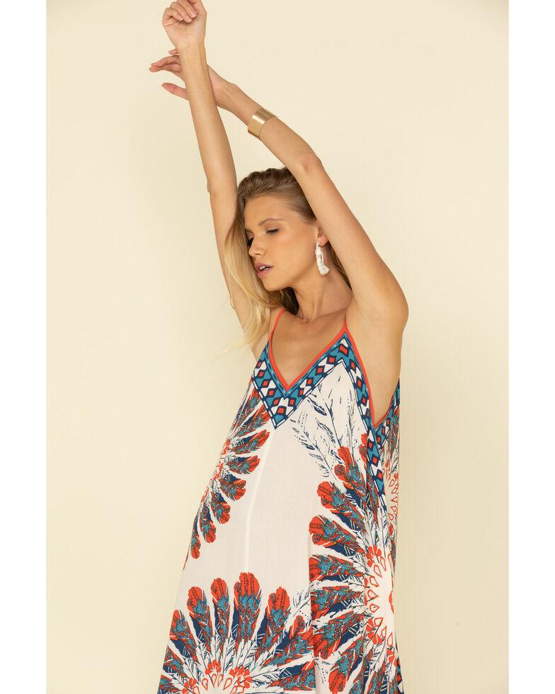 Flying Tomato Women's Americana Tie Dye Slip Dress, Red/white/blue, hi-res