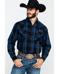 Ely Cattleman Men's Assorted Multi Large Plaid Long Sleeve Western Shirt - Big , Multi, hi-res