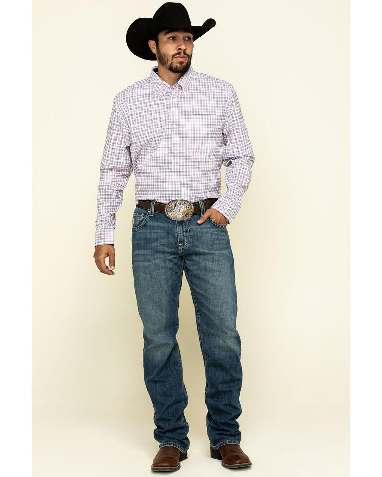 Cody James Core Men's Patriot Small Plaid Long Sleeve Western Shirt - Big , White, hi-res