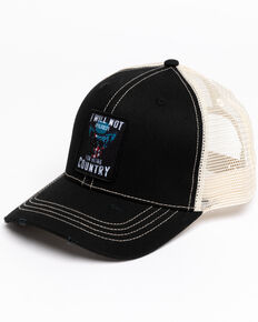 Cody James Men's Will Not Apologize For Country Mesh Ball Cap, Black, hi-res