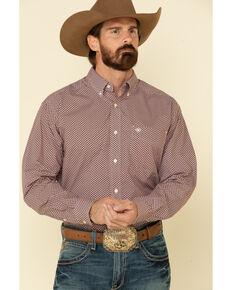 Ariat Men's Kelso Geo Print Long Sleeve Western Shirt - Big , Black, hi-res