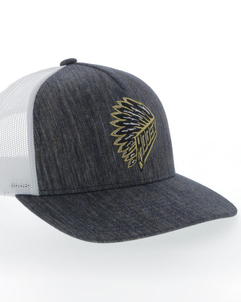 HOOey Men's Quannah Trucker Cap, Navy, hi-res