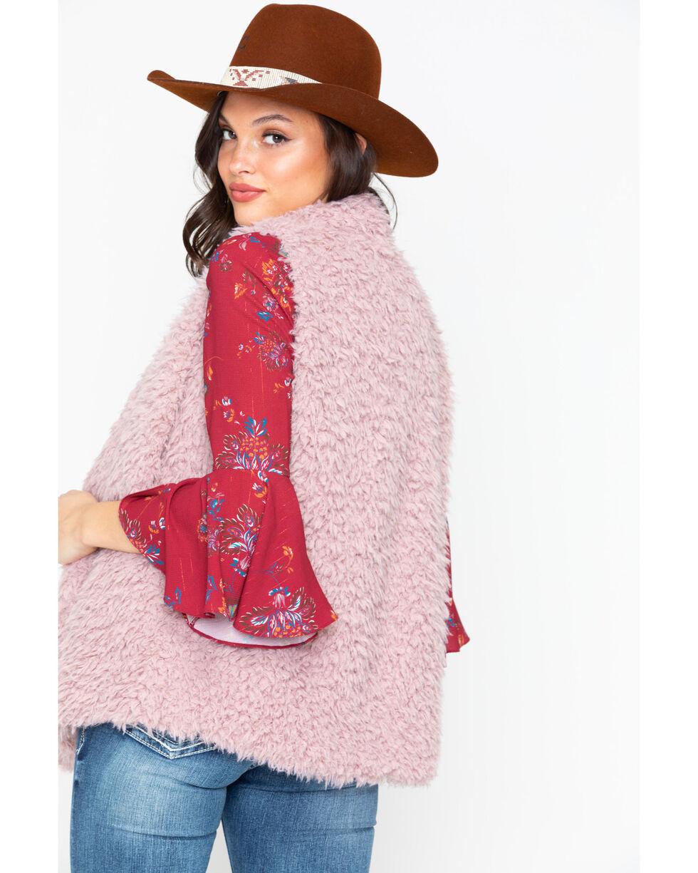 American Attitude Women's Drapey Open Front Vest , Blush, hi-res