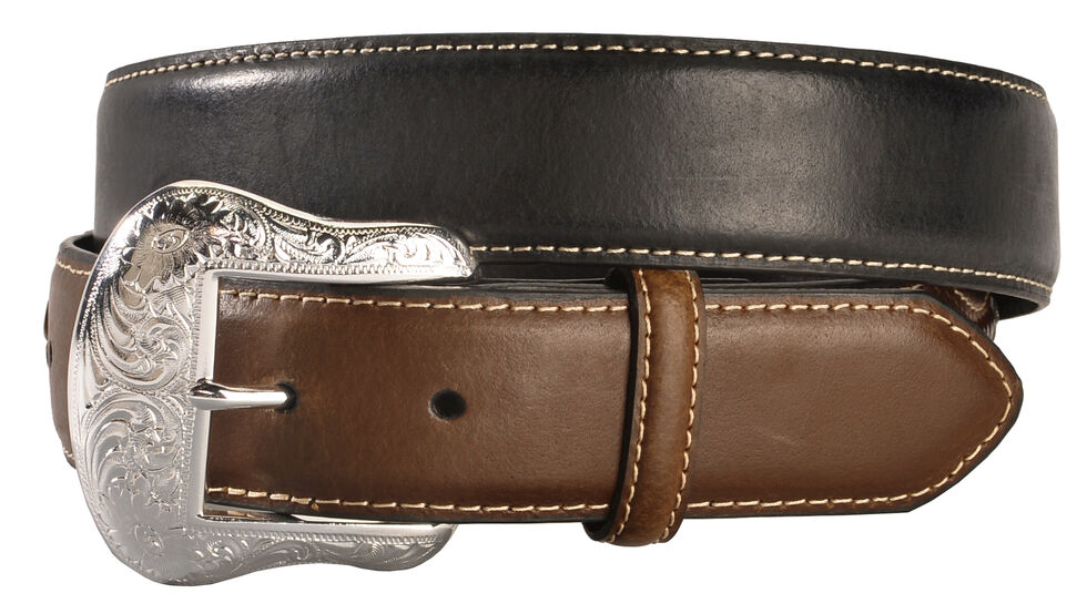 Nocona Concho Billet Leather Belt, Black, hi-res