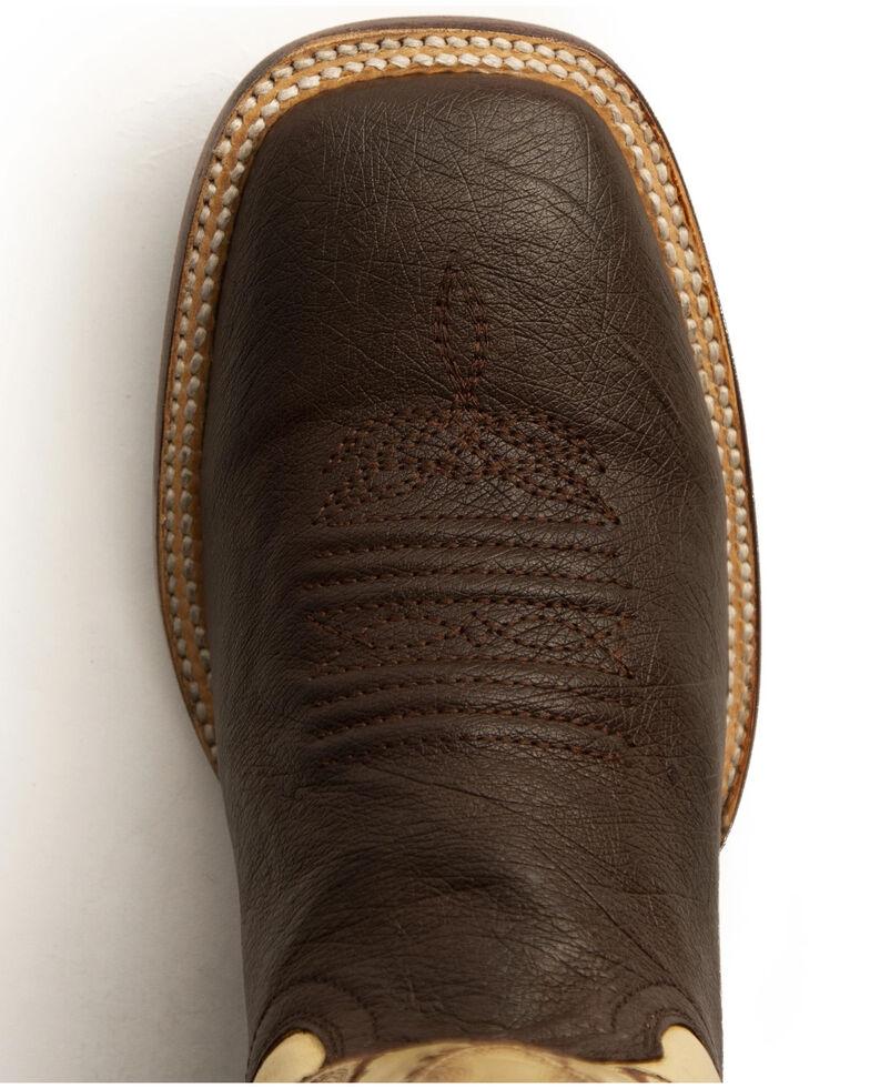 Ferrini Men's Morgan Western Boots - Wide Square Toe, Chocolate, hi-res