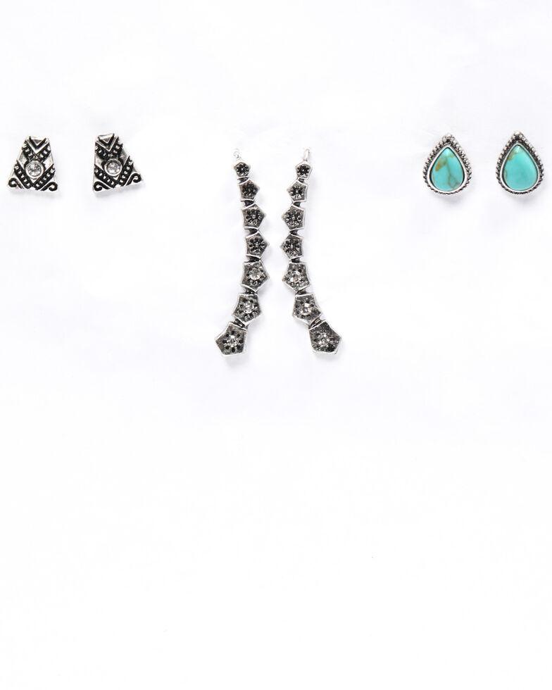 Shyanne Women's Emma Rae 3 Piece Ear Crawler Set, Silver, hi-res