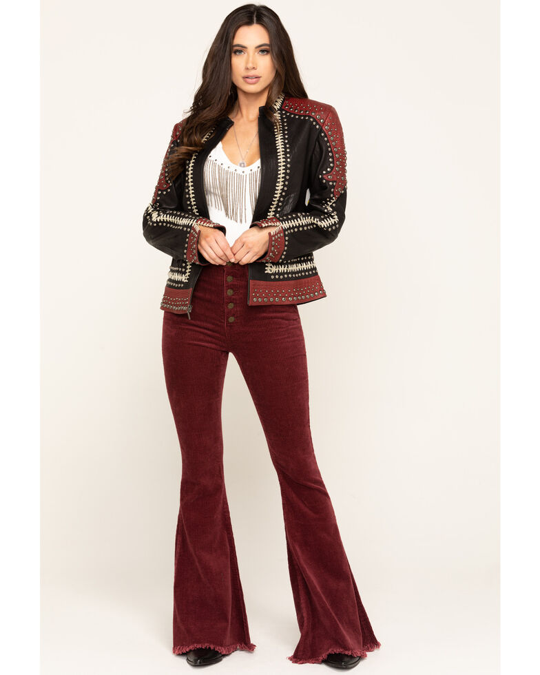 Double D Ranch Women's Oxblood By The Rio Grande Jacket, Red, hi-res