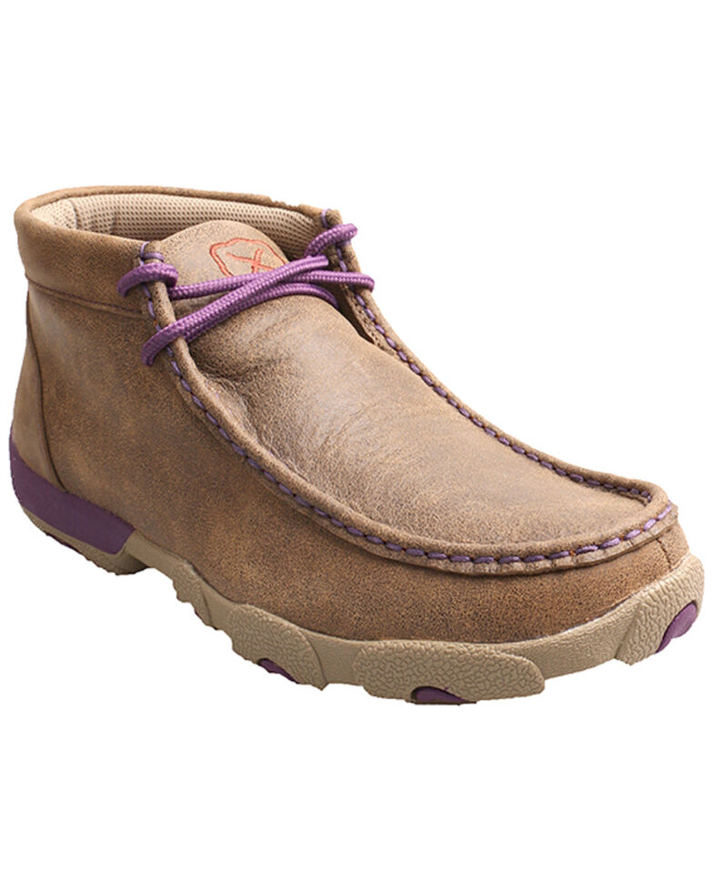 Twisted X Bomber Women's Leather Driving Mocs, Bomber, hi-res