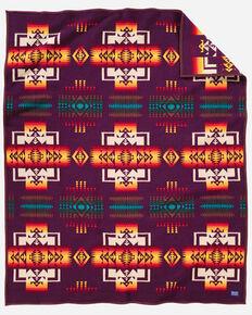 Pendleton Chief Joseph Maroon Blanket , Burgundy, hi-res