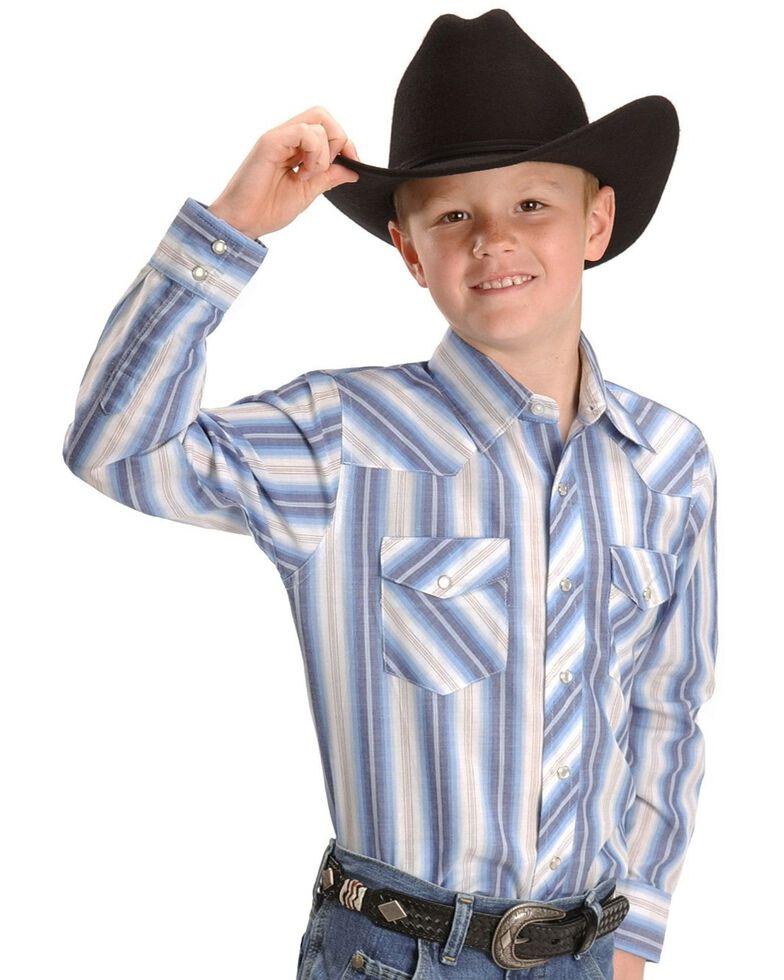 Wrangler Boys' Assorted Striped Western Shirt - 2-20, Stripe, hi-res