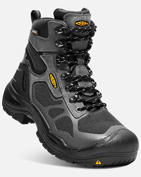 Keen Men's Cocncord Waterproof Work Boots - Steel Toe, Grey, hi-res