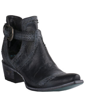 Lane Women's Black Cahoots Western Booties - Snip Toe, Black, hi-res