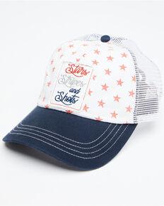 Shyanne Women's Stars Stripes And Shots Patch Ball Cap , Tan, hi-res