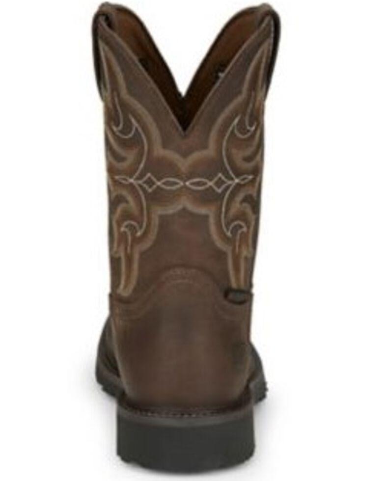 Justin Men's Ricochet Waterproof Western Work Boots - Composite Toe, Tan, hi-res