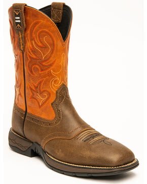 "Cody James Men's 11"" Xero Lite Western Boots - Square Toe, Brown, hi-res"