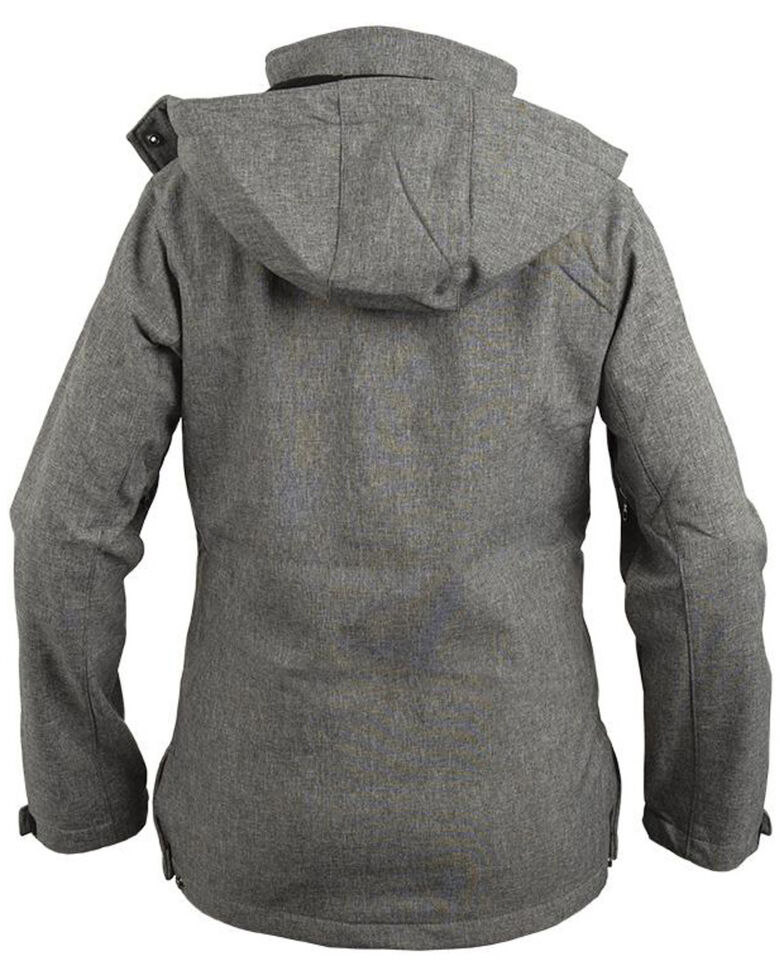 STS Ranchwear Women's Grey Barrier Softshell Hooded Jacket, Light Grey, hi-res