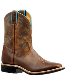 Boulet Women's Brown Western Boots - Wide Square Toe, Brown, hi-res