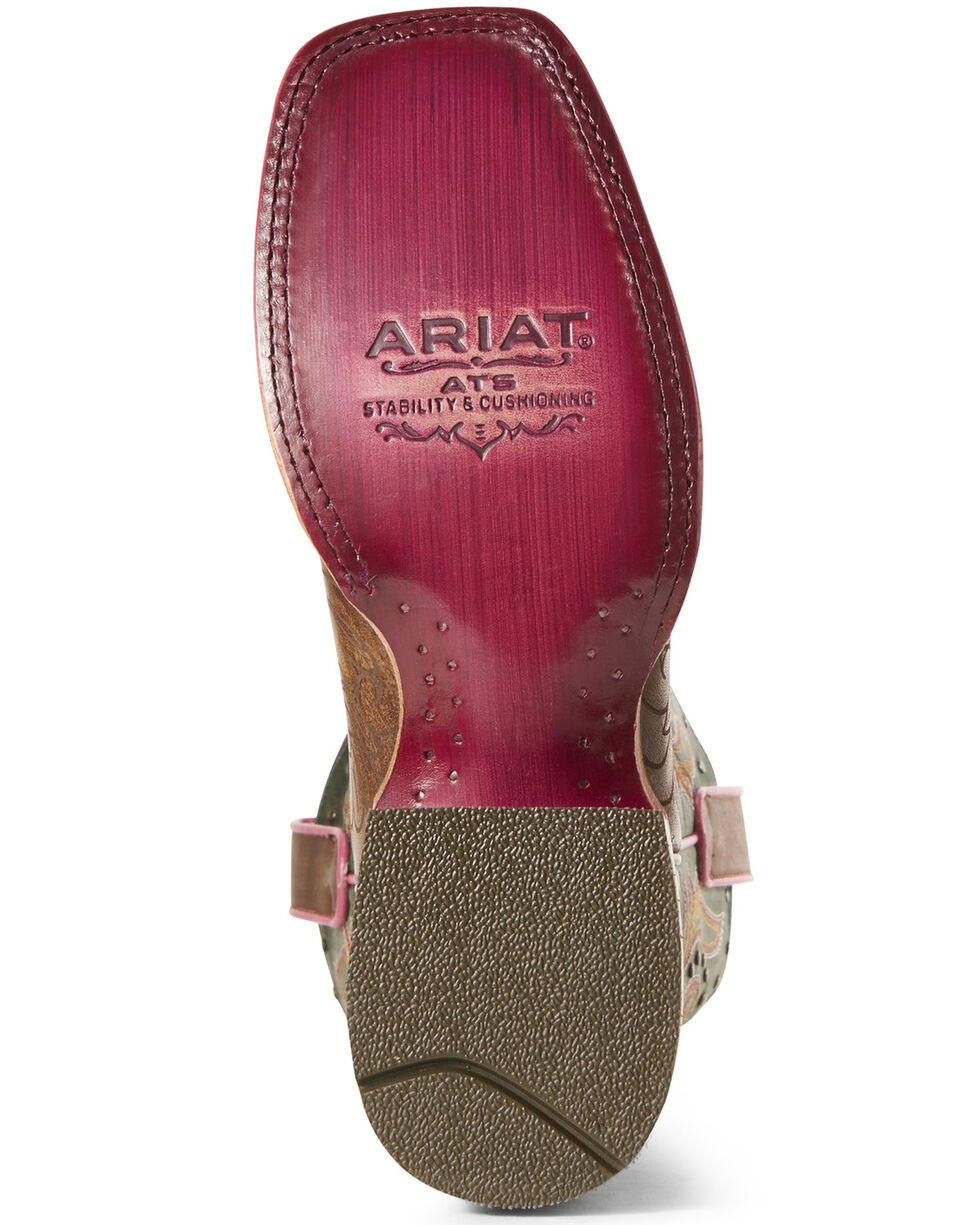 Ariat Women's Montage Western Boots - Wide Square Toe, Brown, hi-res