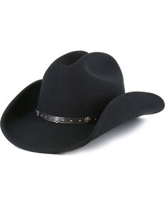 Cody James Men's Felt Cowboy Hat , Black, hi-res