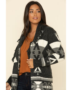 Idyllwind Women's Aztec Adventure Sash Cardigan , Black, hi-res