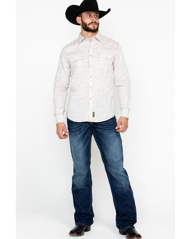 Wrangler Retro Men's Solid Premium Long Sleeve Western Shirt , Beige/khaki, hi-res