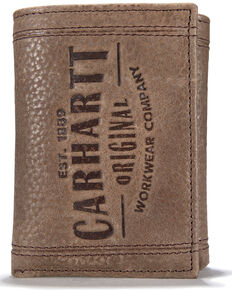 Carhartt Men's Workwear Trifold Wallet, Brown, hi-res