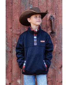 Cinch Boys' Navy Heavyweight Knit Pullover Sweatshirt , Navy, hi-res