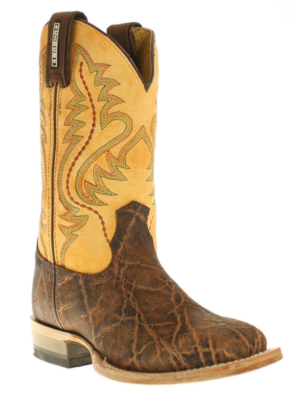 Cinch Boys' Elephant Print Boots - Square Toe, Rust, hi-res